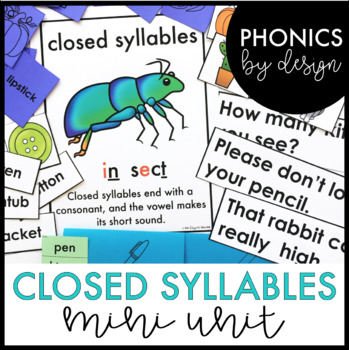 Two Syllable Words with Closed Syllables Word Work Printab