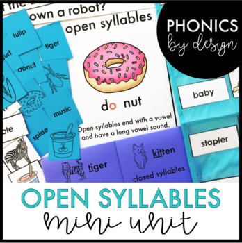 Two Syllable Words with Open Syllables Word Work Printables {VCV}