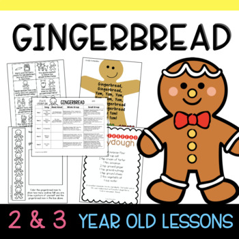 Two & Three's GINGERBREAD Lesson Plans
