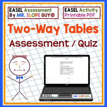 Two Way Tables for Common Core Bank 8.SP.A.4 Go Math Stati