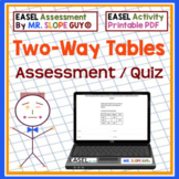 Two Way Tables ExamView Test Bank 8.SP.A.4 Go Math Statistics BNK