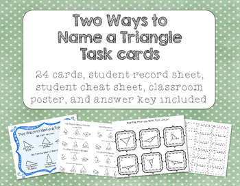 Two Ways to Name a Triangle Task Cards