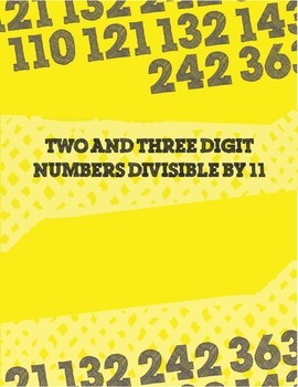 Two and Three Digit Numbers Divisible by 11