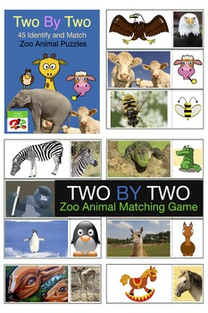 Zoo Animal Matching Puzzles  - Early Intervention