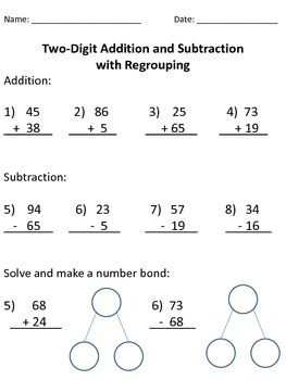 Two-digit Addition and Subtraction with Regrouping