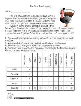 Two for One Thanksgiving Logic Puzzles!