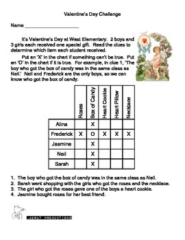 Two for One Valentine's Logic Puzzles