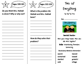 Two of Everything Trifold - Journeys 2nd Gr U 6 Wk 4  (201