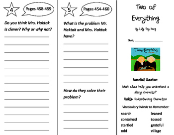 Two of Everything Trifold - Journeys 2nd Grade Unit 6 Week