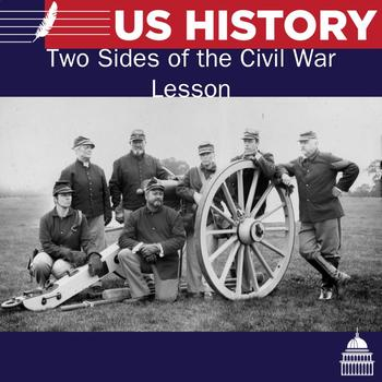 Two sides of the Civil War Powerpoint notes and handout
