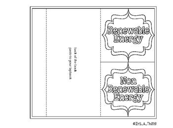 Two tab foldable Renewable and Non-Renewable Energy