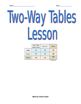 Two-way table Lesson