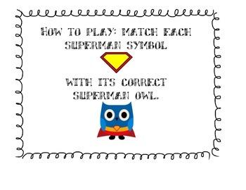 Twos (2) Multiplication Game: Superhero Owl