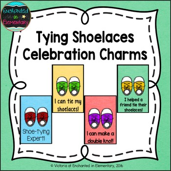 Tying Shoelaces Brag Tags