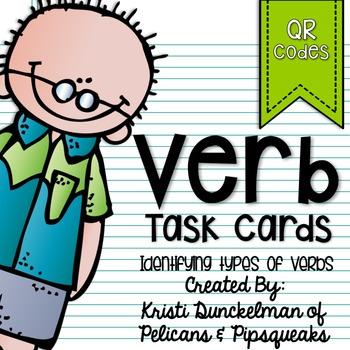 Type of Verb QR Code Task Cards