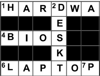 Types and components of computer systems Crossword