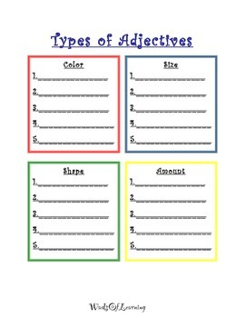 Types of Adjectives