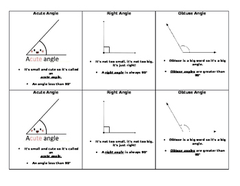 Types of Angles (Handout)