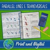 Parallel Lines Cut by a Transversal - Interactive Notes an
