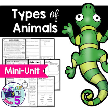 Types of Animals: Mini-Unit