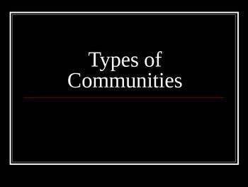 Types of Communities PowerPoint Presentation
