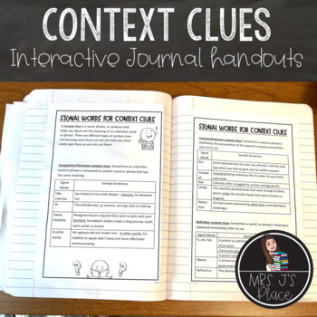 Types of Context Clues student handout