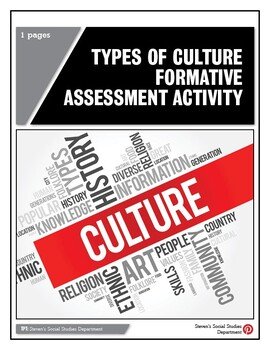 Types of Culture Formative Assessment Activity