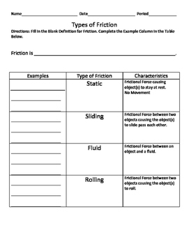 types of friction worksheet free worksheets library download and print worksheets free on. Black Bedroom Furniture Sets. Home Design Ideas