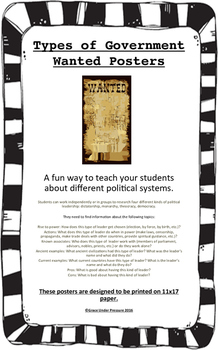 Types of Government Wanted Posters: A fun way to learn abo