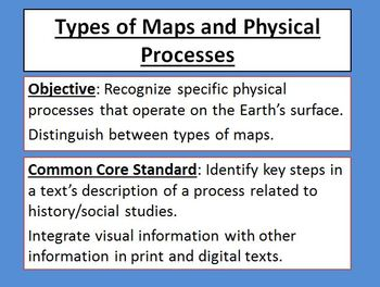 Types of Maps and Physical Processes Powerpoint Common Cor