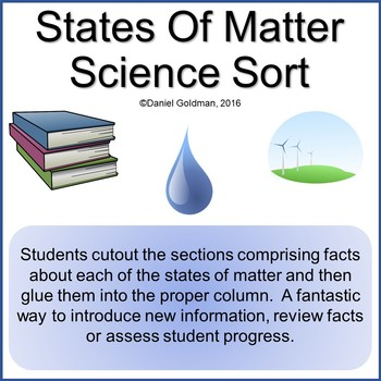 Types of Matter Cutout and Sort Science Grades 3-5