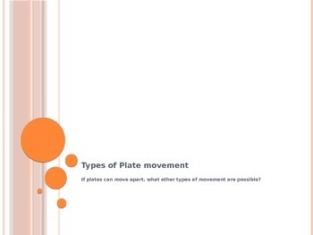 Types of Plate Movement Lesson 8