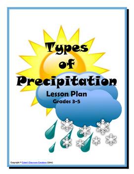Types of Precipitation Lesson Plan (rain, snow, sleet, hai