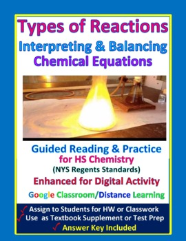 Types of Reactions & Balancing Equations - Guided Study No