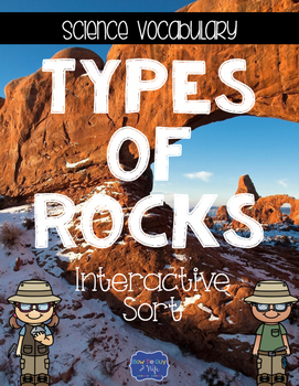 Types of Rocks {Interactive Vocabulary Sort}