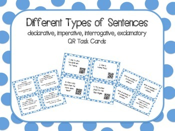 Types of Sentences QR Task Cards