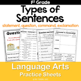 Types of Sentences and End Punctuation Common Core Practic