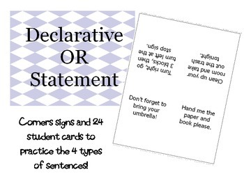 Types of Sentences Corners
