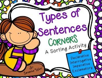 Types of Sentences - Corners Activity