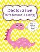 Types of Sentences Sort Declarative & Interrogative - Dino