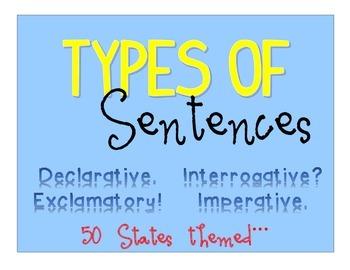 Types of Sentences - Poster Set + - 50 States Themed