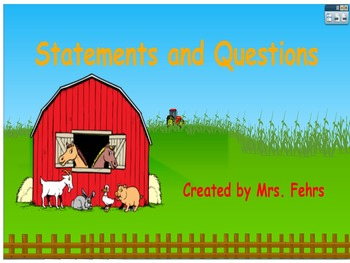Types of Sentences: Statements and Questions