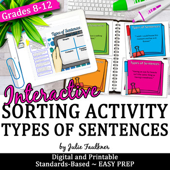 Sentence Types Structure, Grammar Game, Hands-On, Great fo