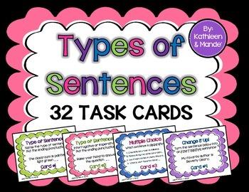 Types of Sentences: Task Cards