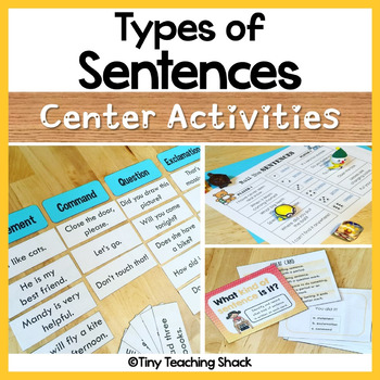 Types of Sentences and End Punctuation Activities