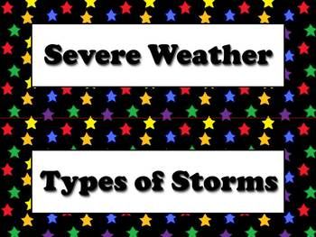 Types of Storms and Severe Weather Vocabulary Strips - Sup