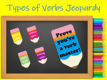 Types of Verbs Jeopardy Review Game