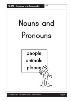 Types of Words: Nouns and Pronouns