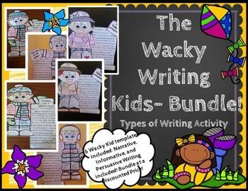 Types of Writing Bundle-Wacky Writing Kids