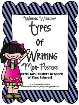 Types of Writing Mini Posters for Writing Workshop